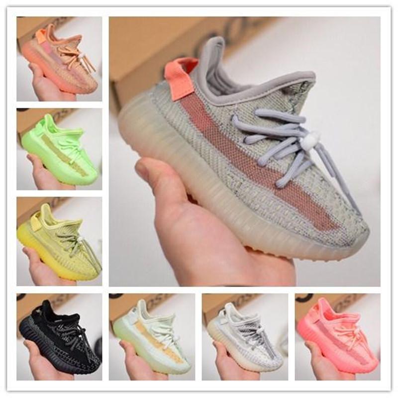 Designer Marque Chaussures bébé Enfants True Form statique Clay Kanye West Courir Formateurs Butter semi Zèbre enfants Garçon Fille Beluga 2.0 Chaussures de sport