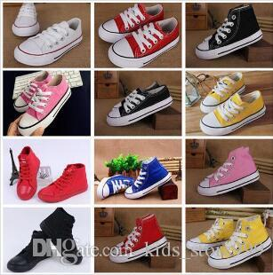 2019 hot classic style All Size 24-34 Low high Style high Style Canvas Shoe Sneakers kids boys girls casual Shoes Casual Shoes shoe