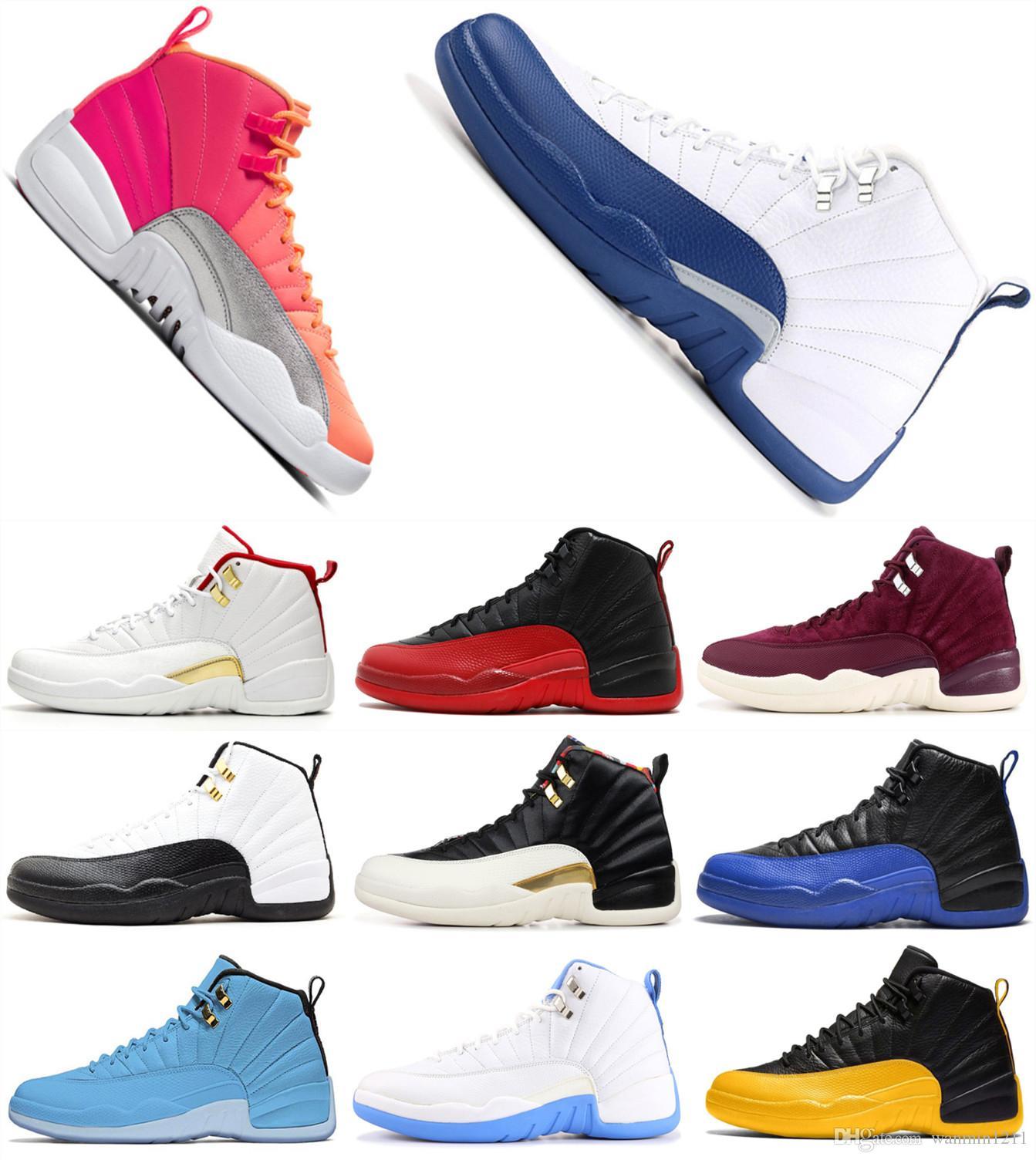 NIKE AIR JORDAN RETRO Yeni 12 XXI PSNY Tüm Gri Erkek Basketbol Ayakkabı Erkekler Yüksek Üst Kamu Okul 12 s Spor Sneakers Için 2018 Satış