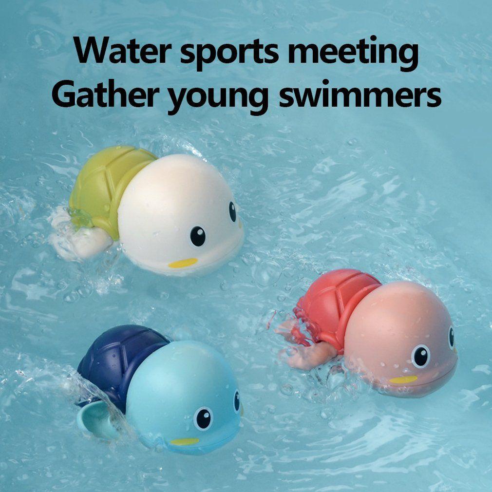아기 어린이 귀여운 거북이 환경 친화 동물 비 독성 목욕 장난감 귀여운 거북이 수영장 재미 장난감 부동