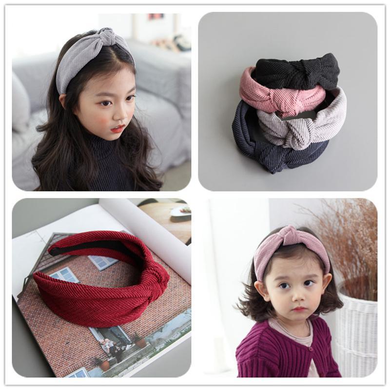 Mode kind haarband freizeit mädchen verdreht stirnband breite band prinzessin turban haarband hochzeit haarschmuck pk-347