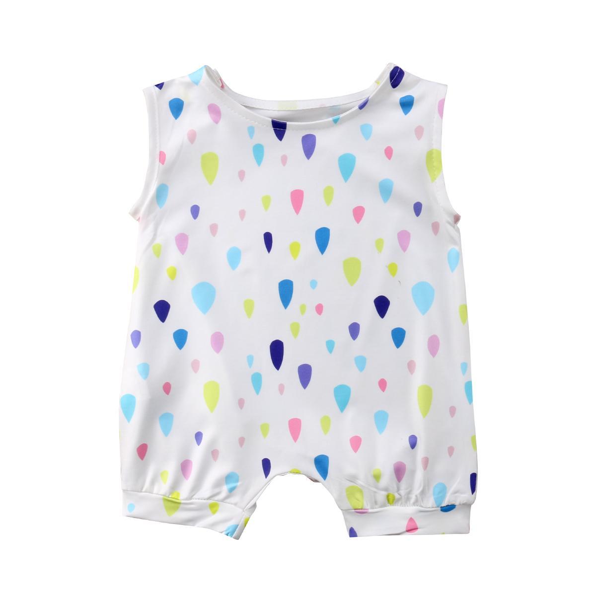 0-24 M de verano para niños Bebé gota de agua mameluco del verano ropa de algodón