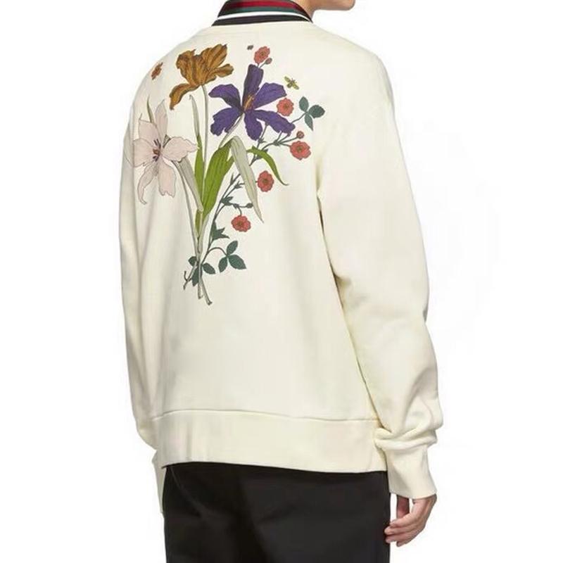 19SS صنع في إيطاليا أوروبا شاتو مارمونت كم طويل البلوز زهرة الفراشة مطبوعة ربيع الخريف السترة سترة الشارع HFYMWY241