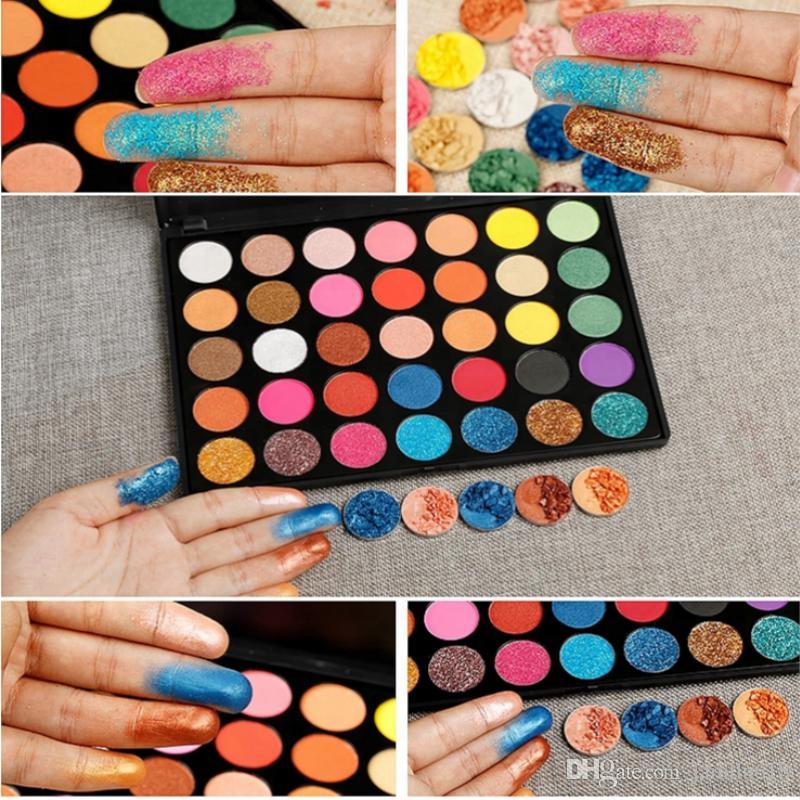 2018 High Pigment Makeup 35 Color Glitter eyeshadow Palette Pressed Powder Matte Shimmer Eyeshadow Palette Eye Shadow Makeup Palettes