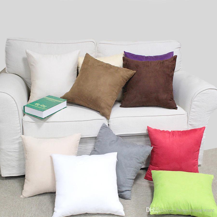 Fashion Solid Cotton Pillow Cushion Cover Home Office Sofa Throw Case 40*40cm