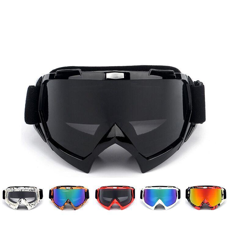 LOONFUNG LF235 Motocross Güneş Gözlüğü Motor Gözlük Bisikleti Çapraz Esnek Gözlükler Renkli Renkli UV Gözlüğü Motosiklet Kayak Cam Vintage Retro Gözlük