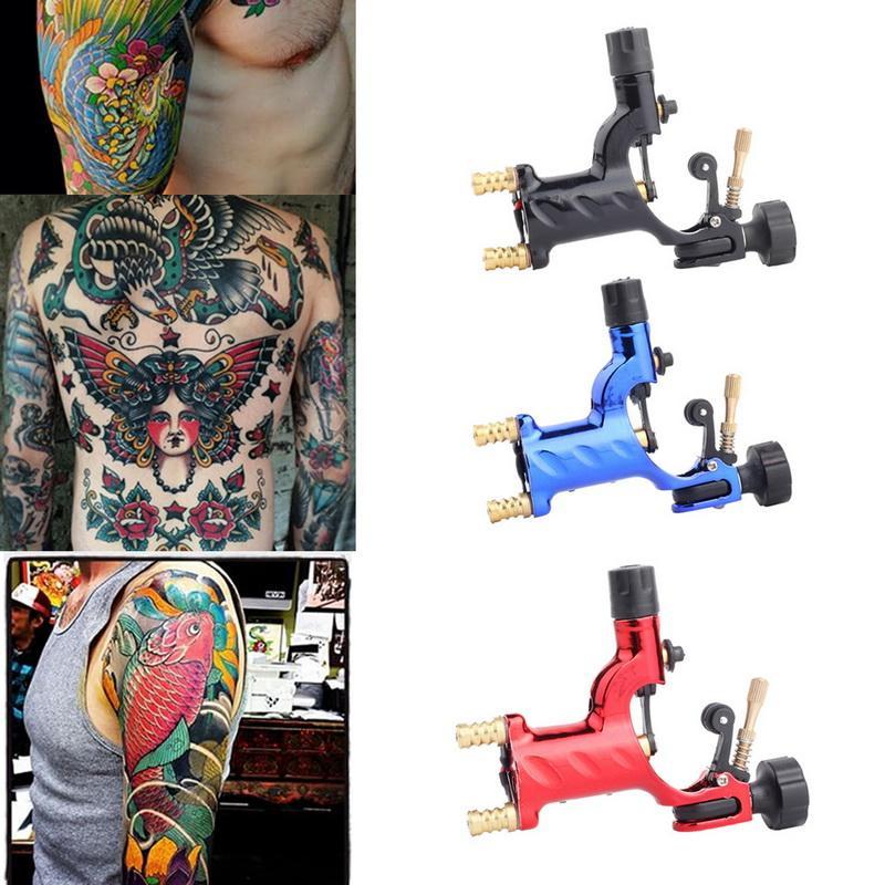 Rotary Machine de tatouage shader et Eyeliner tatouage Assortiment Kits d'alimentation moteur pour les artistes du corps Arts Low Noise 4 Couleurs