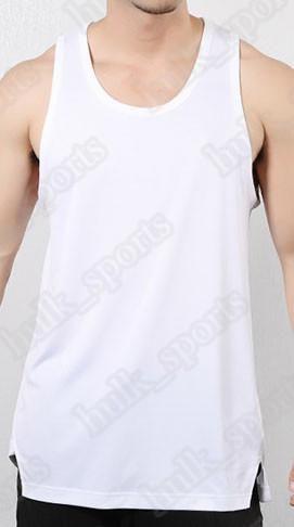 Летние мужские без рукавов спортивные и фитнес-жилеты мужчины теряет футболку молодежный хлопок работает жилет тенденция одежды снизу снаружи носить удобно