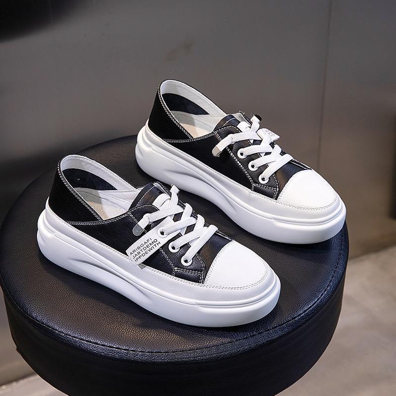 Hot altura Sale-4,5 centímetros aumentando Platform Shoescowskin senhoras Casual viagem venda quente caminhada ao ar livre calçados fêmea branca