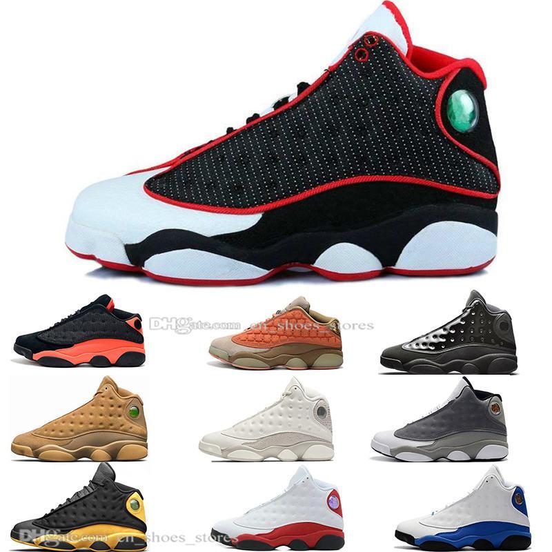 Stokta 13 13s Şapkanız Terracotta Allık Erkek Basketbol Ayakkabı Chicago Siyah Kızılötesi Buğday Erkekler Spor Spor ayakkabılar Tasarımcı Açık Bred
