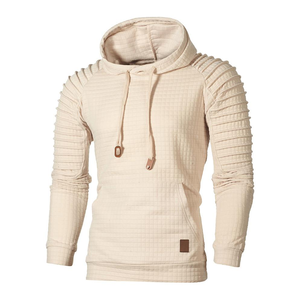 2019 Yeni Moda Kapüşonlular Erkekler Sonbahar Uzun Kol Ekose Hoodie Kapşonlu Sweatshirt En Tee Dış Giyim Bluz streetwear kaliteli