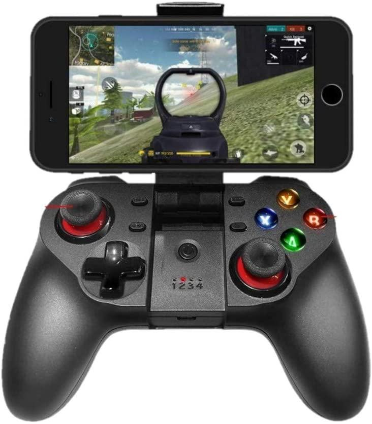 Upgraded Mobile Game Controller, Wireless Bluetooth Gamepad Joystick Multimedia Game Controller Compatible with iOS Android iPhone iPad