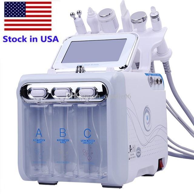 Stok ABD sıcak satış güzellik makinesi ile fabrika fiyat 6 in 1 çok işlevli H2O2 hidrojen oksijen küçük kabarcık yüz makine