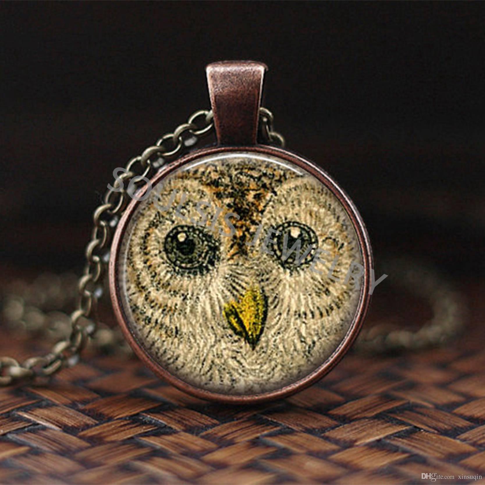 Collar colgante de bronce style6 del arte del árbol de cristal cabujón, collar pendiente de la vendimia de Boho de la joyería más nueva Forma Creativa