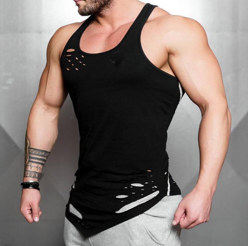 Los hombres del tanque de ejército Top Camo camuflaje para hombre de fitness culturismo Stringers tapas del tanque sin mangas de la camisa Ropa singlete
