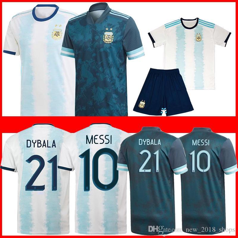 10 Messi Argentinien Fußball-Trikots Männer Kinder European Tasse 21 DYBALA 9 KUN AGUERO 11 DI MARIA 22 LAUTARO CAMISETA DE FUTEBOL MÄNNER