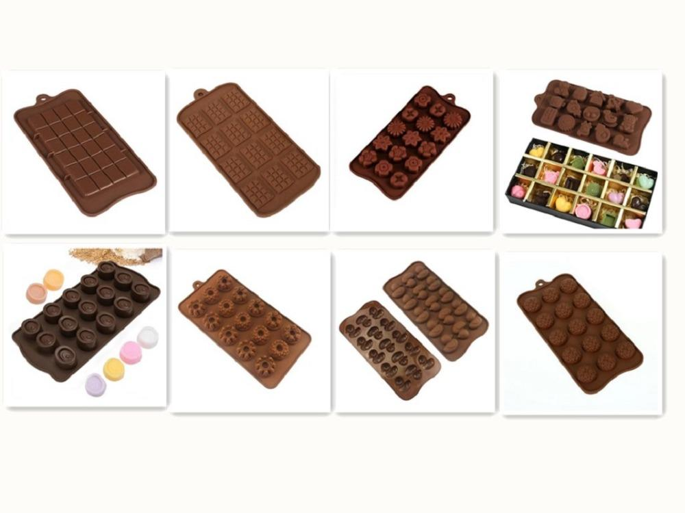 Silicone Mould Chocolate Cake Mould DIY 3D Baking Tools Cake Decoration Hand Making Pudding Jelly Ice Modle Kitchen