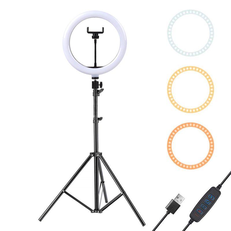 Luz del anillo LED de 10 pulgadas con trípode de 160 cm para teléfono celular Mini LED Cámara Luz de anillo para video Photography Maquillaje YouTube Bloggers