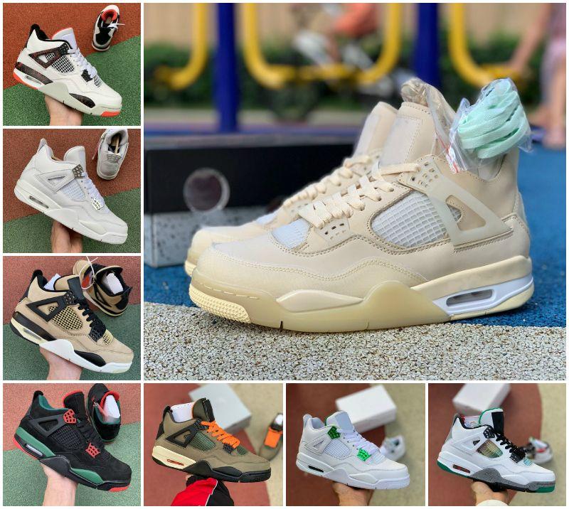 2020 nuevos zapatos de 4 Travis Scotts para hombre de baloncesto Jumpman 4s Cemento Unc blanca Rasta Raptors Lo que los criados de vela Retroes las zapatillas de deporte de diseño deportivo