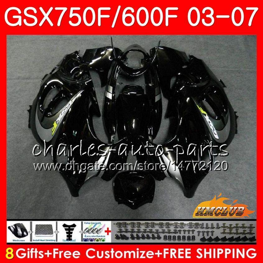 Corpo per Suzuki Katana Stock Black GSXF750 GSXF600 2003 2004 2005 2006 2007 3HC.29 GSX600F GSX750F GSXF 600 750 03 04 05 06 07 Kit carenatura