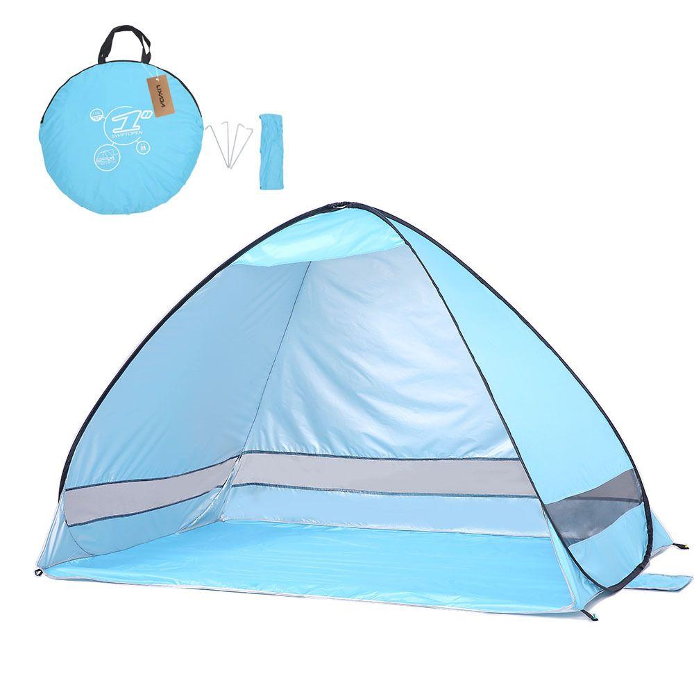 Lixada Beach Tent Pop Up Автоматическая открытая палатка Тент Sunshelter Рыбалка Кемпинг Сверхлегкая складная палатка полностью солнцезащитный козырек анти-уф SH190713