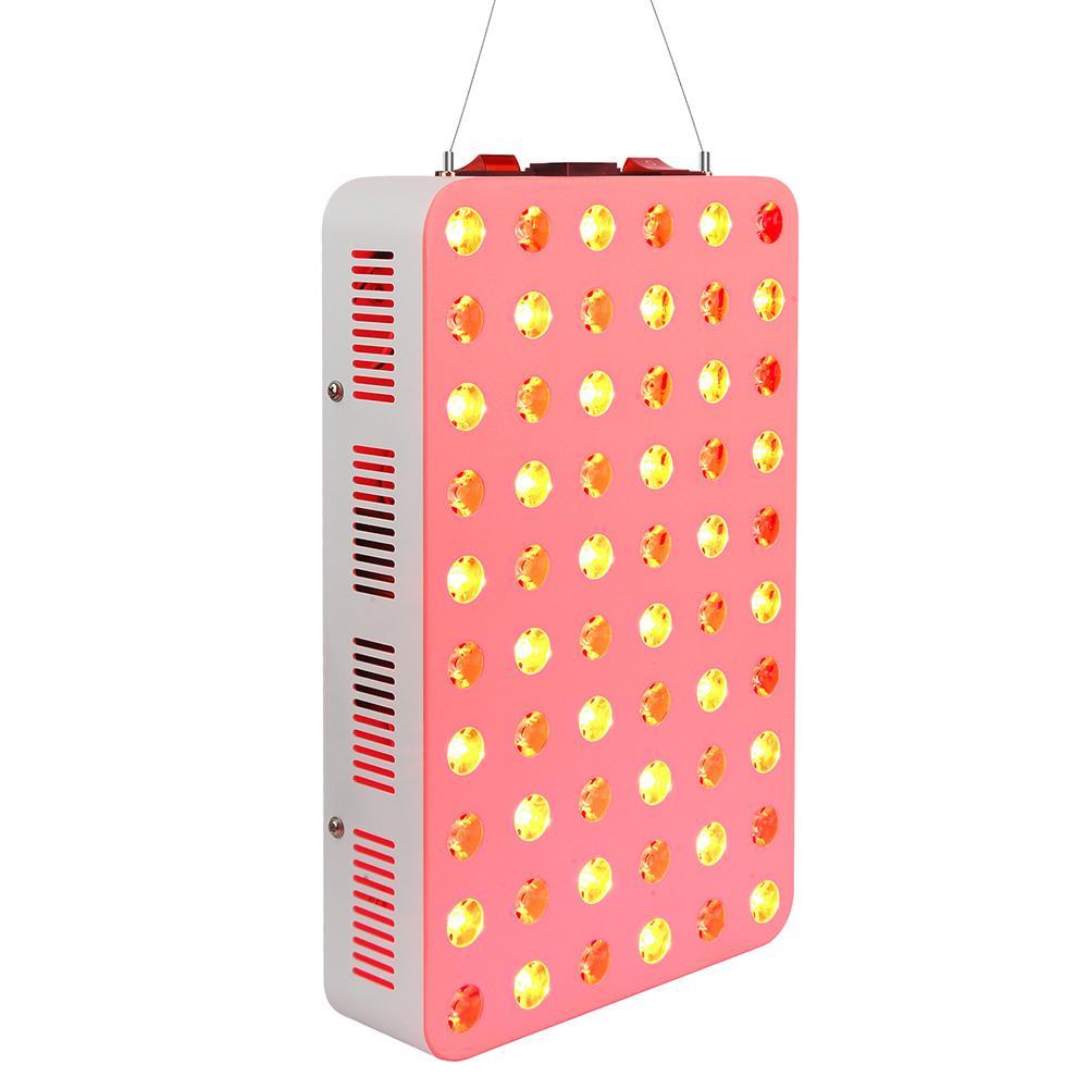العلاج بالضوء الأحمر 300W، 660nm 850nm، بالقرب من العلاج بالضوء LED بالأشعة تحت الحمراء، 60 المصابيح. عالية الطاقة، انخفاض إخراج EMF. للطاقة، تخفيف الآلام، صحة الجلد، الجمال، مكافحة الشيخوخة