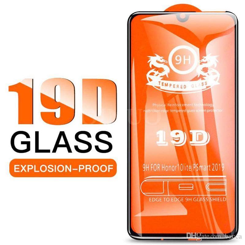 9H Cobertura completa protetor de tela para iphone 11 11Pro 11Pro max completa Glue vidro de protecção de vidro temperado 19D Film para iphone Preto