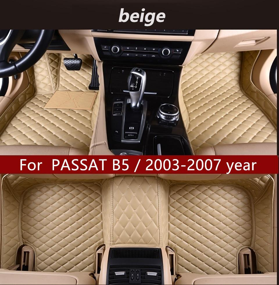 Per PASSAT B5 / 2003-2007 anno Interno di automobile del piede tappetino antiscivolo Protezione Ambientale insipida non tossica Tappetino