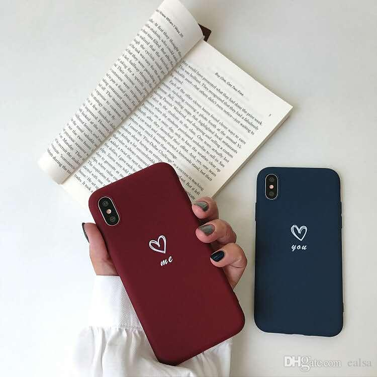 3pcs Colorful Love Heart lovers Phone Case Soft TPU Silicone Case For iPhone 11 Pro X XR XS Max 8 7 6s Plus