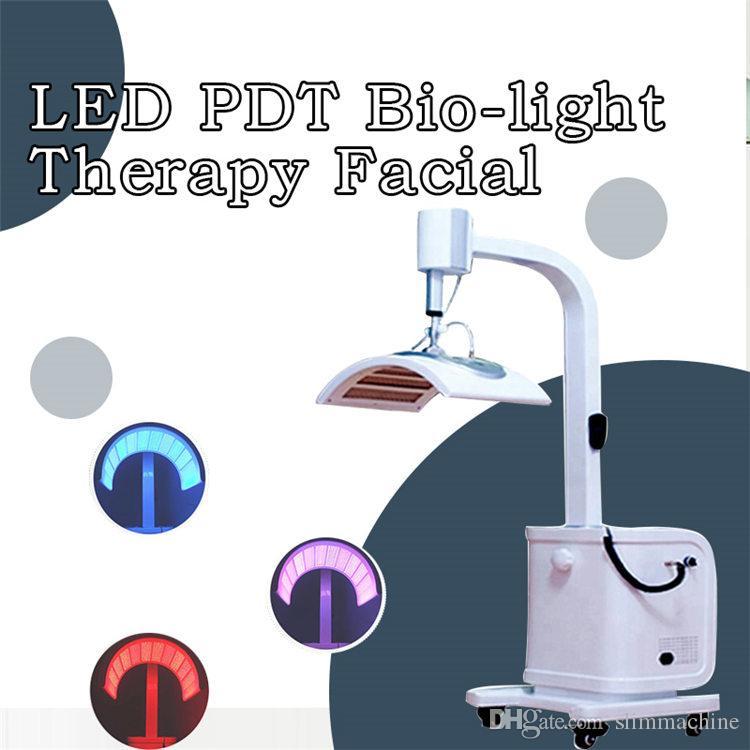 Professionnel 7 couleurs photon thérapie anti-vieillissement beauté machine LED PDT 2019 nouvelle expédition rapide CE / DHL
