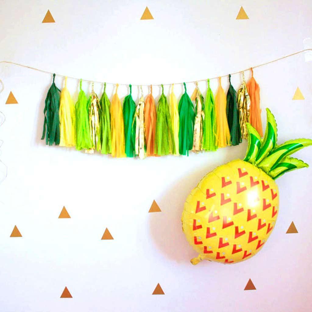 4x тропический ананасовый алюминиевый баллон воздушных шаров для тропических принадлежностей