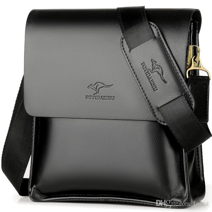 Designer Leather Messenger Bag Male Vintage Crossbody Best Over The Shoulder Bag Kangaroo Brand Mens Bags For Work College Business Bolsas