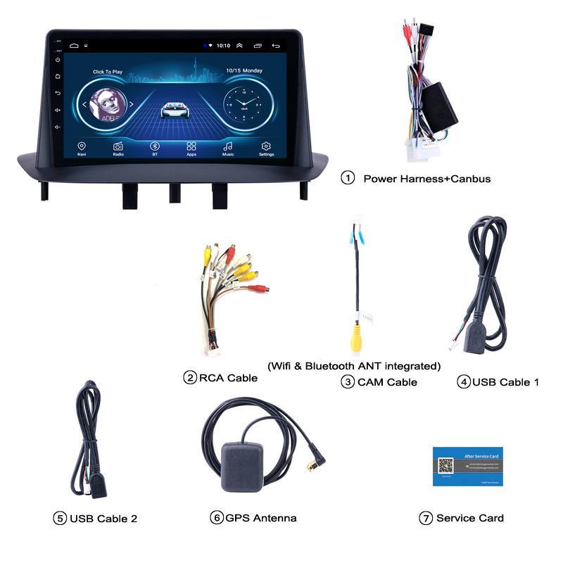 와이파이 블루투스 미러 링크와 르노 MEGANE 3 차 라디오 멀티미디어 비디오 플레이어 네비게이션 GPS 안드로이드 (10)
