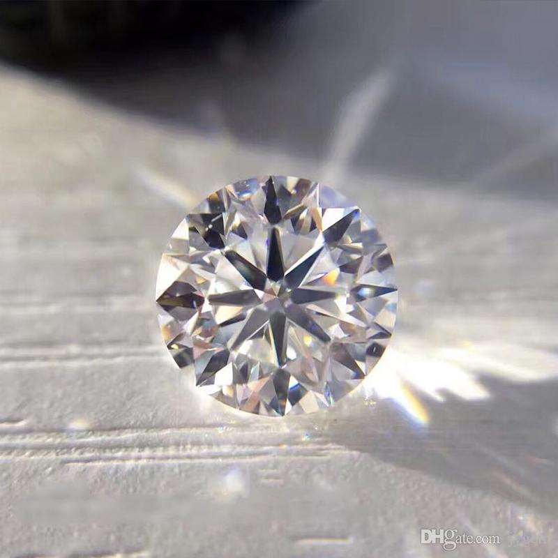 3.0~15mm Loose Moissanite 1.0ct Carat 6.5mm D Color Round Brilliant Cut VVS1 Gemstone With GRA Certificate
