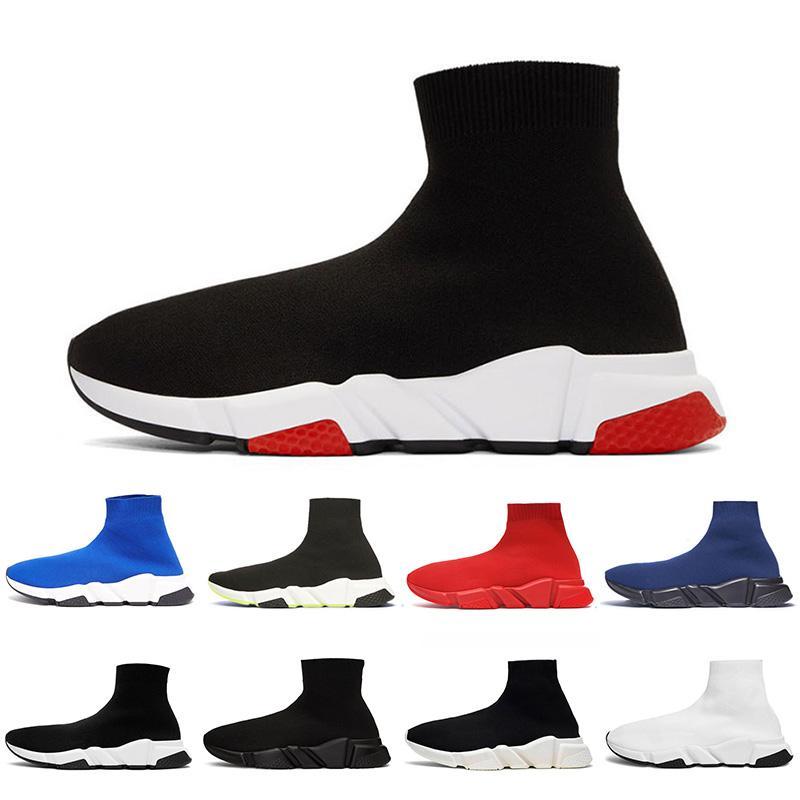 Pair Sock Shoes Knit Designer Platform