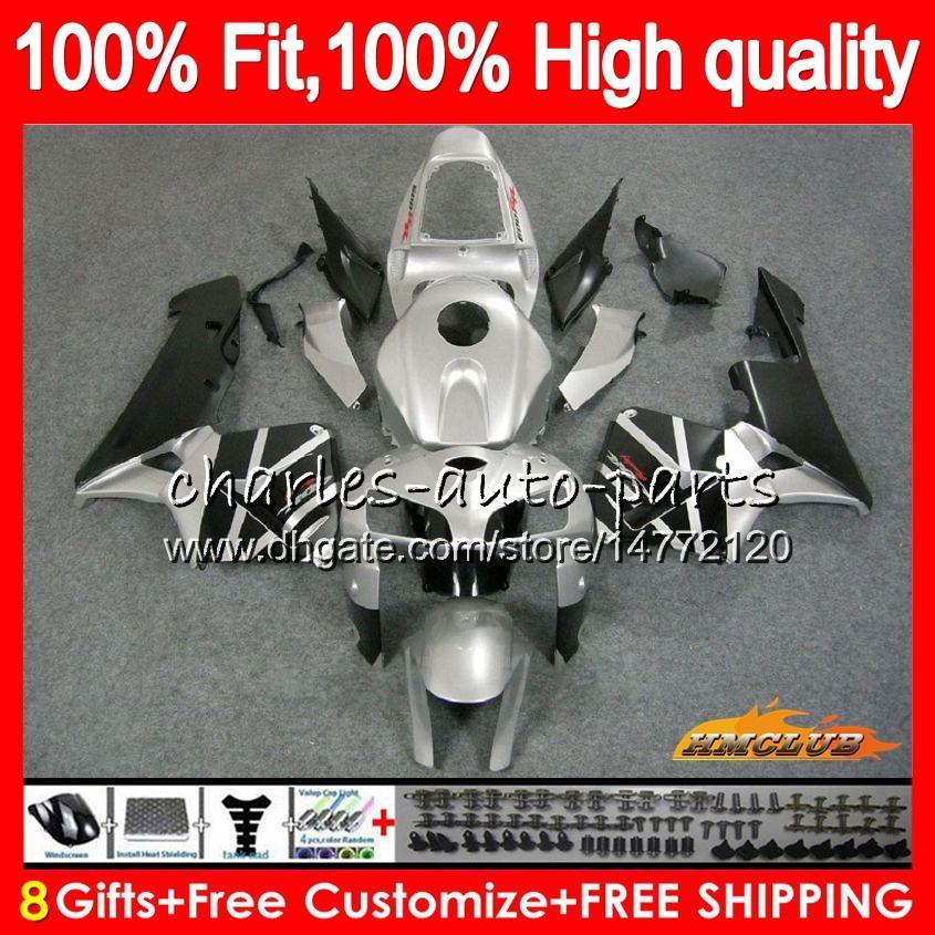 Injection mold For HONDA CBR600RR CBR600 RR silvery black 2005 2006 80HC.35 CBR600F5 CBR 600F5 600RR 05 06 CBR 600 RR F5 05 06 Fairing OEM