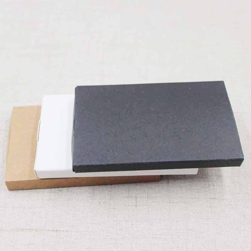 10pcs yeni stil DIY boş kraft / siyah / beyaz karton slayt çekmece kutusu hediye / şeker iyilik paketleme ekran kutusu özel maliyet ekstra