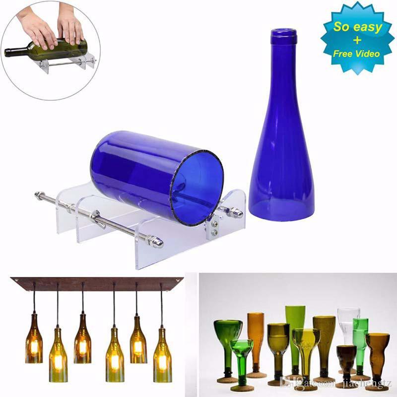 4 en 1 Reciclar Botella de vidrio Cortador Cerveza Vino Jar M/áquina Bar Acr/ílico Herramienta de bricolaje