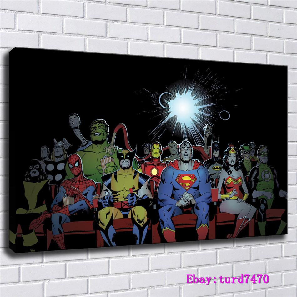 DC and Marvel Characters,Avengers Super Hero,1 Pieces Canvas Prints Wall Art Oil Painting Home Decor (Unframed/Framed) 24x36.