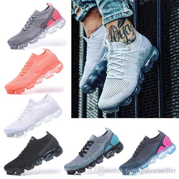 Nike Air Vapormax 2019 2018 Flyknit 2.0 3.0 Running Shoes БЫТЬ ИСТИННЫМ Женским Мягкие Кроссовки Для Реального Качества Макс Мода Мужская обувь Кроссовки 36-45