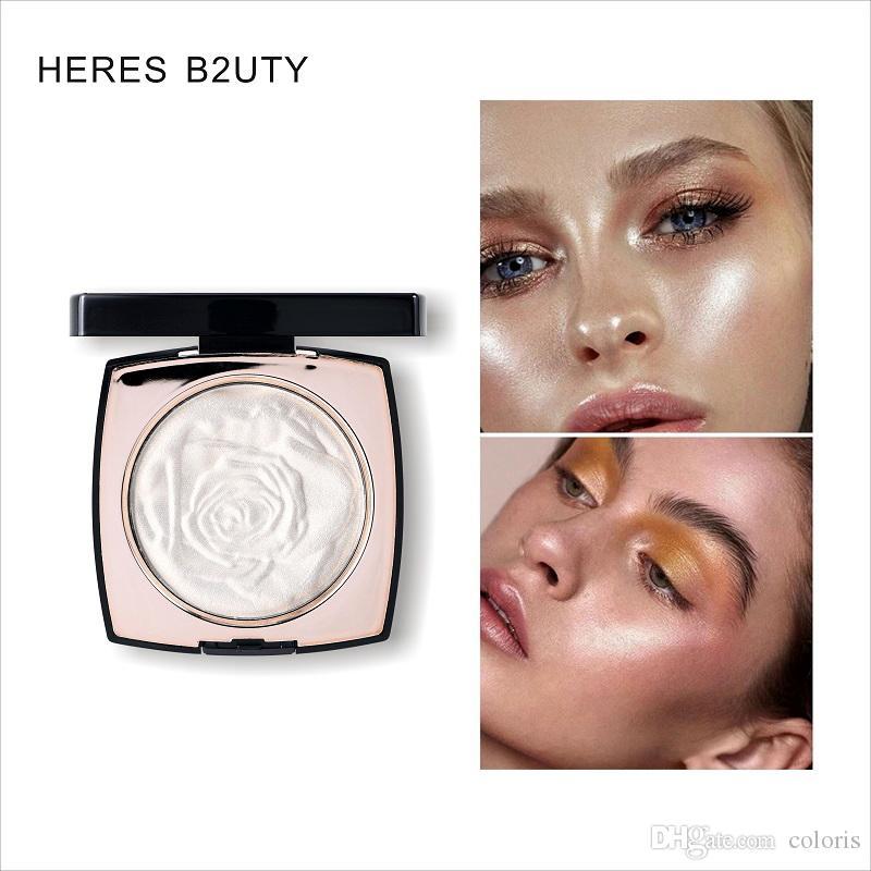 HERES B2UTY Cipria trucco illuminare la pelle 3 colori Illuminate Maquillage Bronzer contorno in oro rosa evidenziatore Polvere Impostazione Polvere