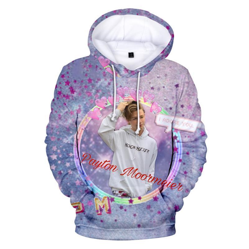 2020 Niños Marca Diseño Payton Moormeier sudaderas con capucha de los hombres casual capucha muchachas de las mujeres suéter Payton Moormeier impresión 3D Top de los niños