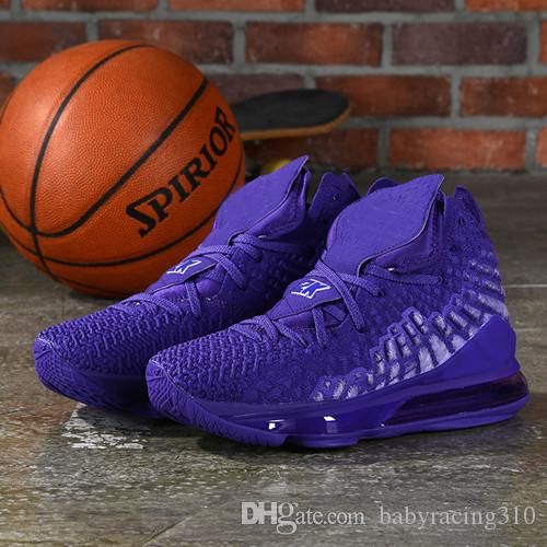 Purple Lebron 17 Basketball Shoes Glow