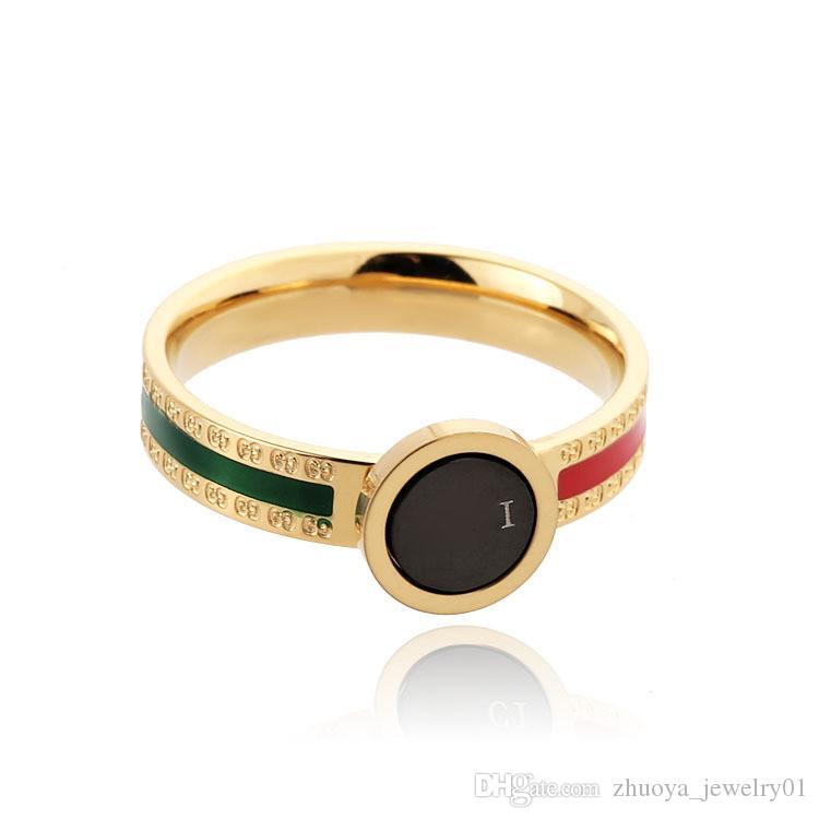 ЭПОКСИДНЫЙ зеленый красного кольца диких мужчины и женщины титана стал парой кольца Обручальных колец мужских обручальных колец обручальных кольца Bague налить Hommes 2020