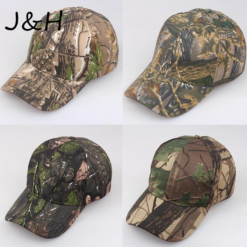 New Browning Camo Baseball-Kappen-Fischen Caps Men Outdoor Jagd Camouflage Jungle Hat Wandern Casquette Hats