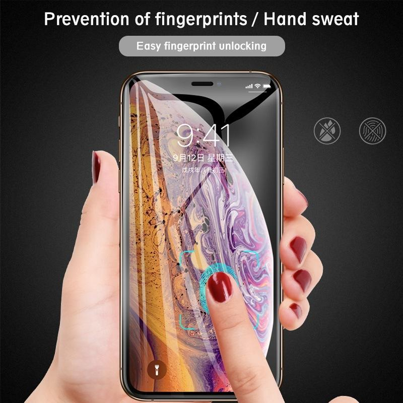 9D Tempered Glass for IPhone 11/11Pro/11 ProMax X/Xs XR XSMax Anti-Scrath Front Screen Protector Full-screen Protective Steel Film-2