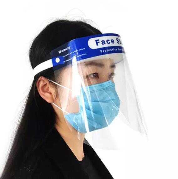 Spot protective mask transparent mask PET isolation anti-dust anti-splash anti-fog HD transparent mask WY756