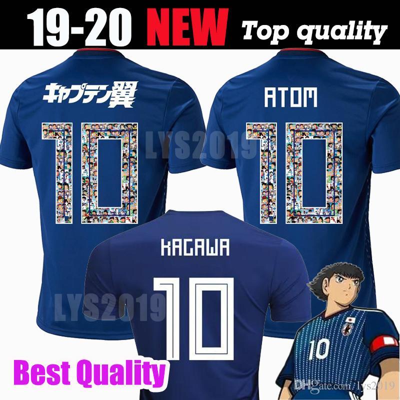 Japan Jersey 2018 ATOM 10 Cartoon Number Maglia da calcio Tsubasa KAGAWA HONDA 18 19 Maglia da calcio giapponese