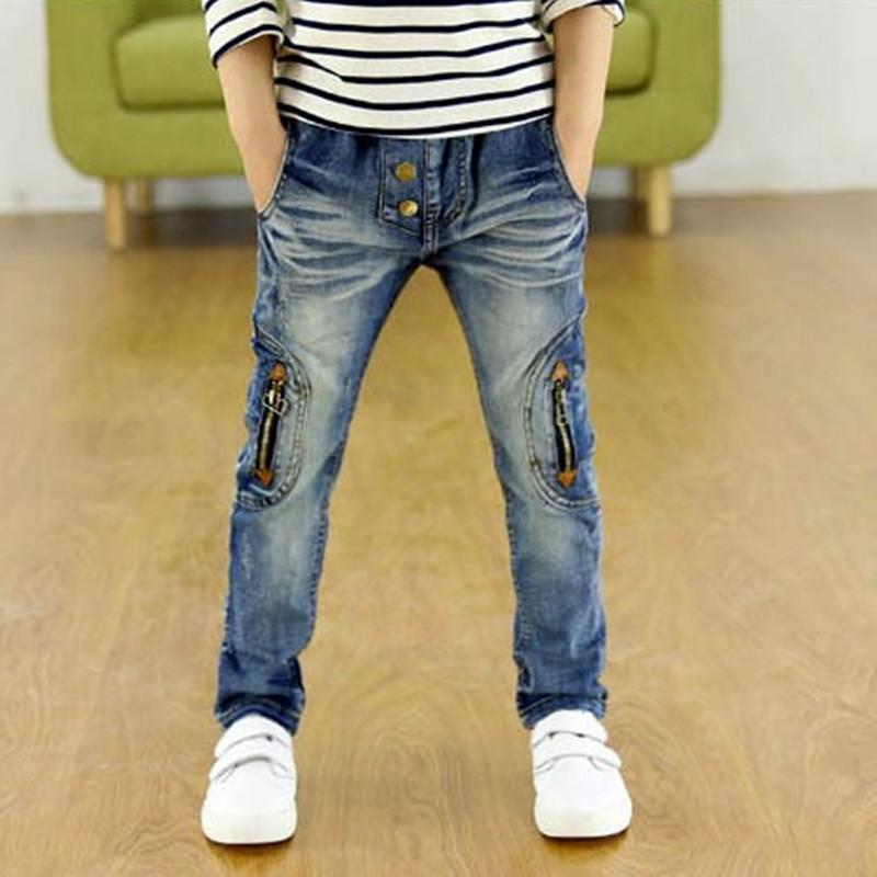 Kids Clothing 2019 New Spring Autumn Children Pants Boys Trousers Fashion Gun Cotton Pencil Pants Zipper Leggings Boy Wild Jeans J190509