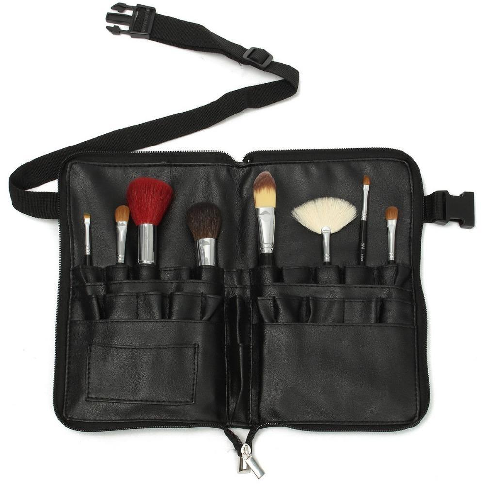 1 unid Pvc Profesional Pinceles de Maquillaje Bolsa Correa Correa Negro 28 Bolsillos de Maquillaje Titular de Cepillo Cosmético Herramientas Organizador